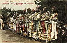 Veterans at the annumal meeting in Abomay in 1908
